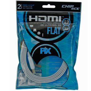 Cabo-HDMI-Flat-Branco-2-Metros-Pix-1.4-4K-UltraHD-19-Pinos---Polibag-Chip-Sce-018-9780