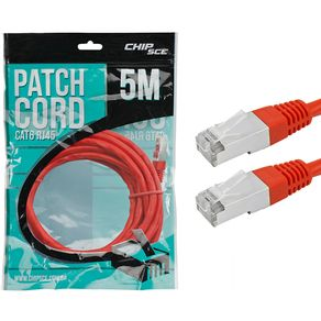 CABO-PATCH-CORD-CAT6E-RJ45-FTP-VERMELHO-5MTS-CHIP-SCE-018-9923