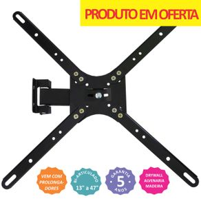 Suporte-Bi-Articulado-para-TV-de-Led-LCD-Plasma-3D-ate-47--Connect-Move