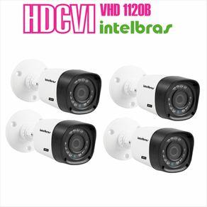 Kit-04-Cameras-com-Infravermelho-Intelbras-HDCVI-VHD-1120B-Lente-3.6-720p-Branca