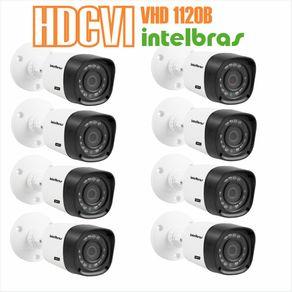 Kit-08-Cameras-com-Infravermelho-Intelbras-HDCVI-VHD-1120B-Lente-3.6-720p-Branca