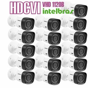 Kit-16-Cameras-com-Infravermelho-Intelbras-HDCVI-VHD-1120B-Lente-3.6-720p-Branca