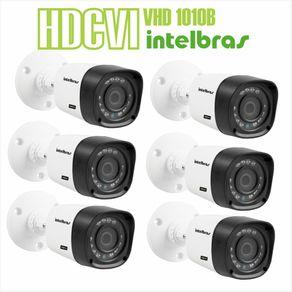 Kit-06-Cameras-com-Infravermelho-Intelbras-HDCVI-VHD-1010B-Lente-3.6-720p-Branca