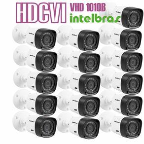 Kit-16-Cameras-com-Infravermelho-Intelbras-HDCVI-VHD-1010B-Lente-3.6-720p-Branca