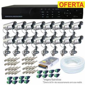Kit-Cftv-16-Cameras---Dvr-16-Ch