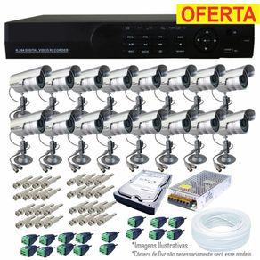 Kit-Cftv-16-Cameras---Dvr-16-Ch-com-HD