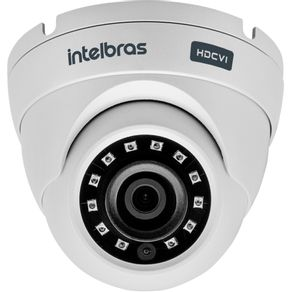 Camera-Dome-Intelbras-Multi-HD--HDCVI-AHD-HDTVI-e-analogica--Vhd-3120D-G3-com-Infravermelho-e-lente-2.8mm-Branco