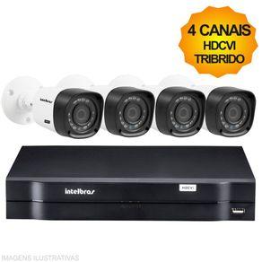 Kit-Cftv-Intelbras-HDCVI-Tribrido-Dvr-4Ch---4-Cameras-1010B