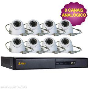 Kit-Cftv-Dvr-8Ch-Hikivision---8-Cameras-Analogica