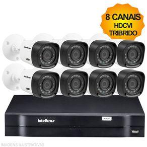 Kit-Cftv-Intelbras-HDCVI-Tribrido-Dvr-8Ch---8-Cameras-1010B
