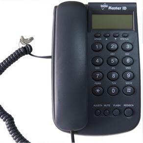 Telefone-Unitel-master-ID-grafite-com-chave