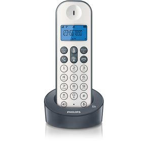 Telefone-sem-fio-Philips-D1211WG-com-Identificador-de-Chamadas-e-Viva-voz