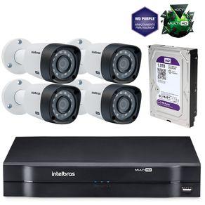 Kit-Cameras-de-seguranca-Intelbras-MultiHD-DVR-4c---4-cameras-1010B-G3---HD-Western-Purple-1Tb
