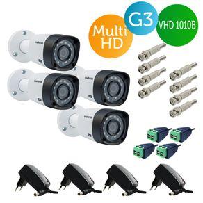 Kit-4-Cameras-bullet-Intelbras-Multi-HD-Vhd-1010b-G3---Fonte---Conectores