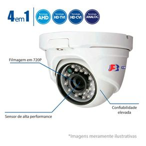 Camera-Dome-Multi-HD-720p---25-Metros-Lente-28mm-FBR-FocusBras-4-em-1---HDTVI-HDCVI-AHD-Analogico