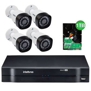 Kit-4-Cameras-de-Seguranca-Intelbras-MultiHD-1010B---DVR-4ch-Intelbras-MultiHD-Mhdx-1004---HD-1TB-Seagate