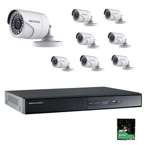 Kit-Cftv-Hikvision-DVR-8C-1080p---8-Cameras-1080p---HD-2Tb