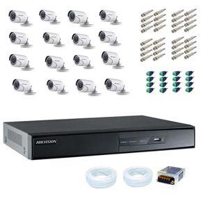Kit-Cftv-16-Cameras-Hikvision-Turbo-HD-1080p---DVR-hikvision-16C-1080p