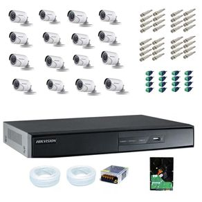 Kit-Cftv-16-Cameras-Hikvision-Turbo-HD-1080p---DVR-hikvision-16C-1080p---HD-3Tb