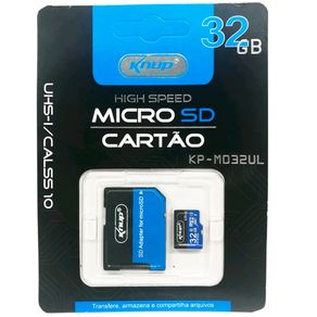 Cartao-de-Memoria-High-Speed-Micro-Sd-32gb-Knup-Kp-m032ul-com-Adaptador