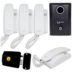 Kit-Porteiro-Eletronico-Lider-LR-570-Smart---Fechadura-Lider-LR-120S---2-Interfones-Lider-LR-2015