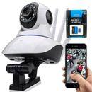 Kit-Robo-Camera-IP-sem-fio-3-antenas-720P-HD-WiFi-Espia-Visao-Noturna-Alarme-audio---Cartao-de-Memoria-32gb-Knup-Kp-m032ul-com-Adaptador