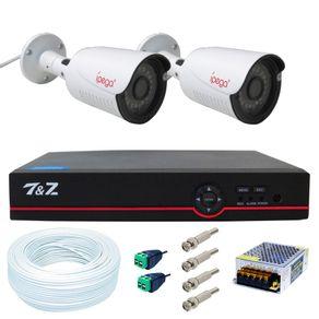 Kit-02-Cameras-de-Seguranca-4-em-1-Full-HD---Dvr-04-Canais-6-em-1--FullHD--IP-Ahd-Analogico-Hdtvi-Hdcvi----Acessorios