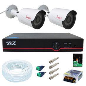 Kit-02-Cameras-de-Seguranca-4-em-1-Full-HD---Dvr-04-Canais-6-em-1--FullHD--IP-Ahd-Analogico-Hdtvi-Hdcvi----Acessorios---HD-500gb