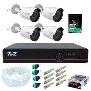 Kit-04-Cameras-de-Seguranca-4-em-1-Full-HD---Dvr-04-Canais-6-em-1--FullHD--IP-Ahd-Analogico-Hdtvi-Hdcvi----Acessorios---HD-500gb