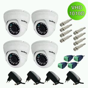 Kit-4-Cameras-dome-Intelbras-Multi-HD-Vhd-1010d-G4---Fonte---Conectores