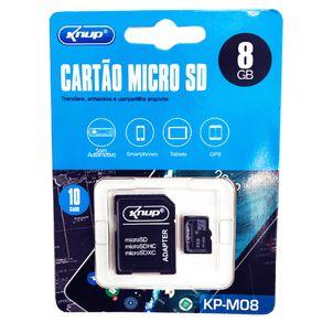 Cartao-de-memoria-Ultra-microSD-Classe10-8gb-Knup-Kp-m08-com-Adaptador