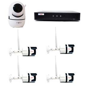 Kit-Sem-Fio-04-Camera-Externa---01-Camera-Interna---DVR-04CH-5-em-1-c--Leitor-Facial