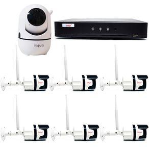 Kit-sem-Fio-06-Camera-Externa---01-Camera-Interna---DVR-04CH-5-em-1-c--Leitor-Facial