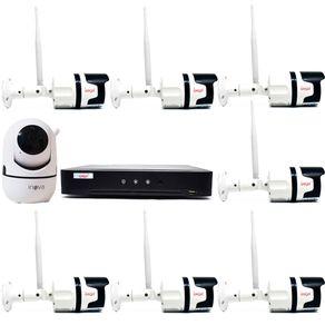 Kit-sem-Fio-07-Camera-Externa---01-Camera-Interna---DVR-04CH-5-em-1-c--Leitor-Facial