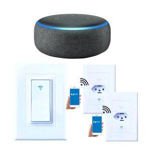KIT-CASA-CONECTADA---1-SMART-SPEAKER-ECHO-DOT-ALEXA---2-TOMADAS-WIFI---1-INTERRUPTOR-WIFI
