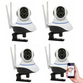 Kit-04-Cameras-de-Seguranca-IP-sem-Fio-Wifi-HD-720p-Robo-Wireless-com-audio-Onvif
