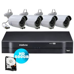 Kit-Campanha-Solidaria-|-Kit-04-Cameras-AHD---DVR-04-Canais-MHDX-Multi-HD-1104-Intelbras---HD-500GB