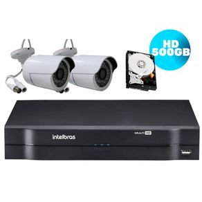Kit-Campanha-Solidaria-|-Kit-02-Cameras-AHD---DVR-04-Canais-MHDX-Multi-HD-1104-Intelbras---HD-500GB