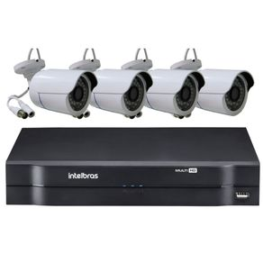 Kit-Campanha-Solidaria-|-Kit-04-Cameras-AHD---DVR-04-Canais-MHDX-Multi-HD-1104-Intelbras