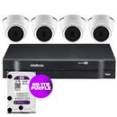 Kit-Campanha-Solidaria-|-Kit-04-Cameras-Dome-Vhd-1010D-MultiHD-720P---Dvr-04-Canais-MHDX-MultiHD-1104---HD-1-TB-Purple