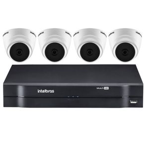 Kit-04-Cameras-Dome-Internas-Vhd-1010D-MultiHD-720P---Dvr-04-Canais-Mhdx-Multi-HD-1104-Intelbras