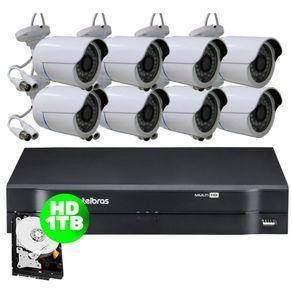Kit-08-Cameras-AHD-30-Metros---Dvr-08-Canais-Mhdx-1108-Intelbras---HD-1-TB-