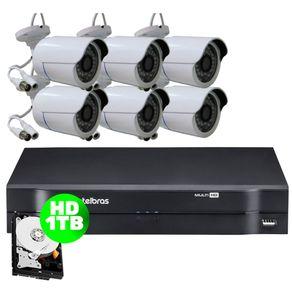 Kit-06-Cameras-AHD-30-Metros---Dvr-08-Canais-Multi-HD-Mhdx-1108-Intelbras---HD-1-TB