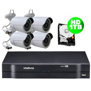 Kit-04-Cameras-AHD-30-Metros---Dvr-08-Canais-Mhdx-1108-Intelbras---HD-1-TB-