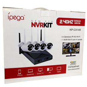 Kit-Nvr-IP-Wifi-Ipega-KP-CA149-4-Canais-com-4-Cameras-Full-HD-1080P