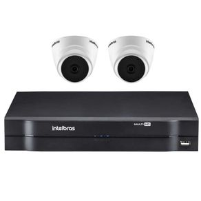 KIT-02-CAMERAS-DOME-INTERNA-VHD-1010D-MULTI-HD-720P---DVR-04-CANAIS-MHDX-MULTI-HD-1104-INTELBRAS