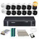 Kit-12-Cameras-Intelbras-HD-Vhl-1120B-20m---Dvr-16-canais-Mhdx-1116---Acessorios---HD-1-TB