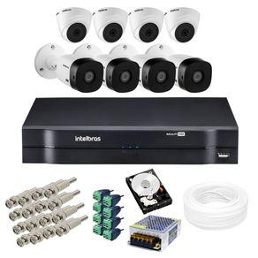 Kit-8-Cameras-de-Seguranca-Interna-e-Externa---Dvr-MultiHD-Mhdx-08Ch---Acessorios---HD-500GB
